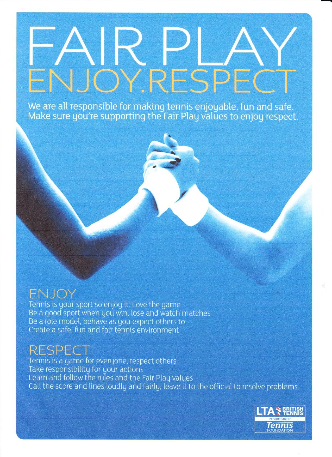 Fair Play and Respect